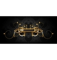 Luxury frame black on gold vector image