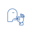 man kissing fingers line icon concept man kissing vector image vector image
