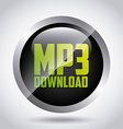 mp3 download vector image vector image