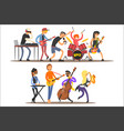 music band performing on stage musicians singing vector image vector image