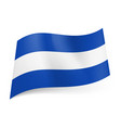 national flag of el salvador central white stripe vector image vector image