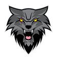 night wolf logo vector image vector image