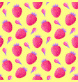 pattern with strawberries and ice cream vector image vector image