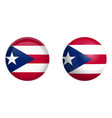 puertorico flag under 3d dome button and on vector image vector image