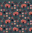 retro prairie style floral pattern hand vector image