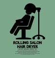 Rolling Salon Hair Dryer vector image vector image