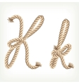 Rope alphabet Letter K vector image vector image