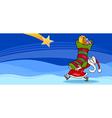 Santa Claus with presents cartoon card vector image vector image