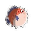 sea blowfish cartoon vector image vector image