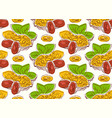 seamless pattern with the image of a peanut vector image