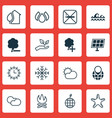 set of 16 ecology icons includes aqua clear vector image vector image