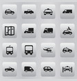 Set of 16 editable transportation icons includes