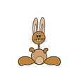 simple vector brown easter bunny vector image vector image