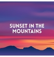 square blurred mountain background - sunset colors vector image