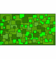 squares in various shades of green background vector image