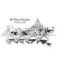 st peters basilica in vatican vector image vector image