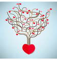 The Tree Heart Valentines day Love icon vector image vector image