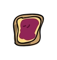 toast with jam isolated icon design vector image