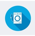Washing machine icon Home equipment symbol vector image