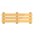 wide fence icon flat style vector image