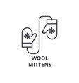 wool mittens line icon outline sign linear vector image vector image