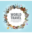 World travel Collection of famous architecture of vector image