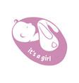 a girl was born vector image