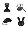 animal police and or web icon in black style vector image vector image