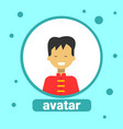 asian man avatar icon chinese male in traditional vector image vector image