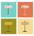 assembly flat icons sign factory vector image