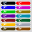 Avatar icon sign Set from fourteen multi-colored vector image vector image