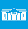 bank building icon white vector image vector image