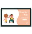 banner disabled kids give vector image