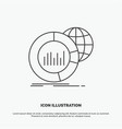 big chart data world infographic icon line gray vector image vector image