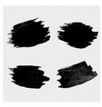 black blobs collection transparent background vector image vector image