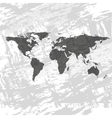 Black World Map vector image vector image