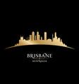 brisbane australia city silhouette black vector image