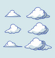 bubble cloud collection set vector image vector image