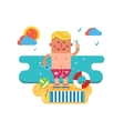 Cartoon man on vacation vector image vector image