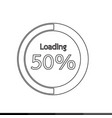 circle loading progress bars indicator icon vector image