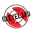 cleveland rubber stamp vector image vector image