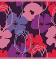 colorful anemone and tulip flowers pattern vector image
