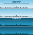 columbus skyline event banner vector image vector image