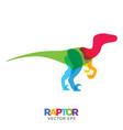 creative velociraptor dinosaur design vector image vector image