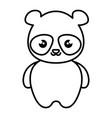 cute and tender bear panda kawaii style vector image vector image