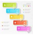 Design business infographics five successive vector image