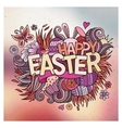 Easter hand lettering and doodles elements vector image vector image