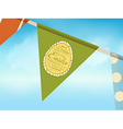 Eater bunting over blue sky vector image vector image