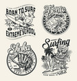 extreme surfing vintage prints vector image vector image