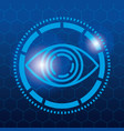 eye view security technology vector image
